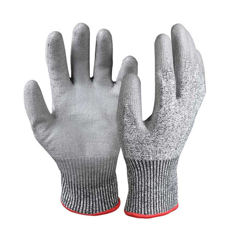 PU Coated Cut Resistant Safety Work Gloves/CRG-003-G
