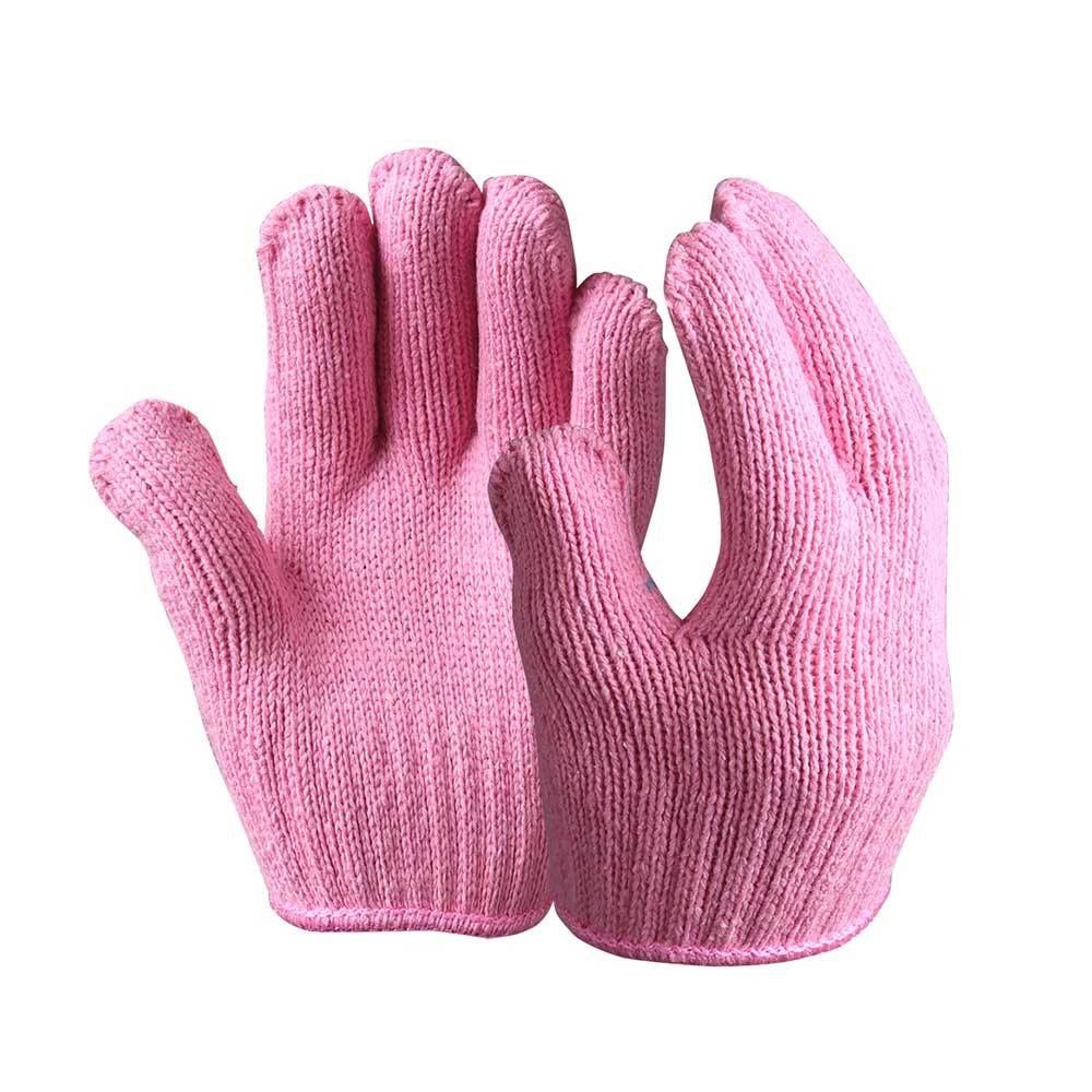 SKG-04-P String Knit Safety Work Gloves/Acryic Gloves With Dots