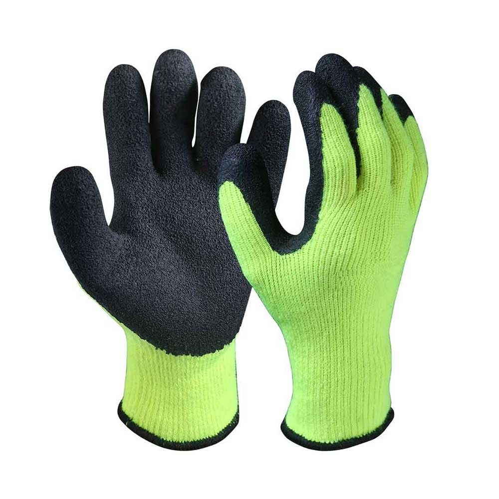 LCG-003 Latex Coated Acrylic Terry Knit Liner Gloves