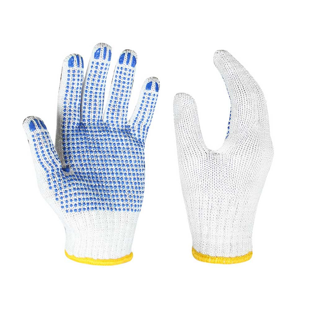 CKG-003 String Knit Gloves with PVC on Palm