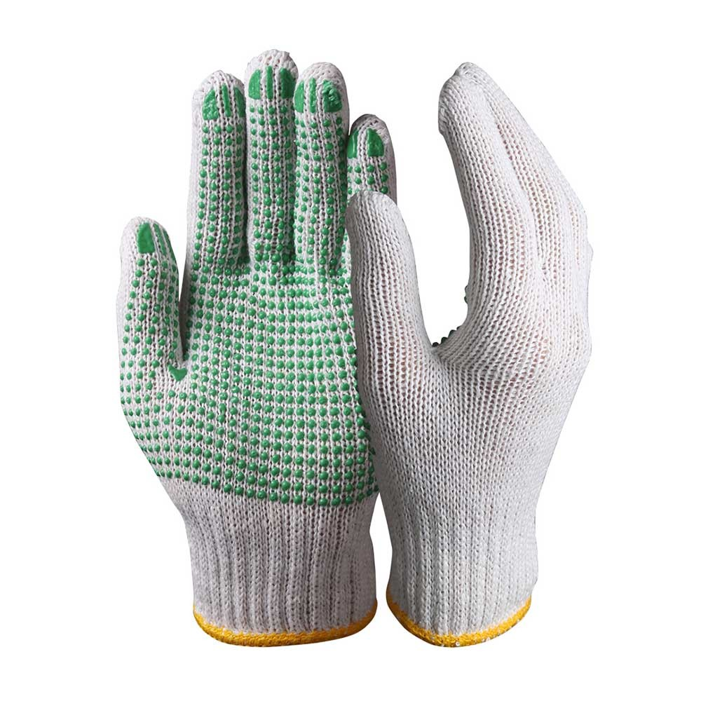 SKG-02-G String Knit Safety Work Gloves/Cotton Gloves With Dots