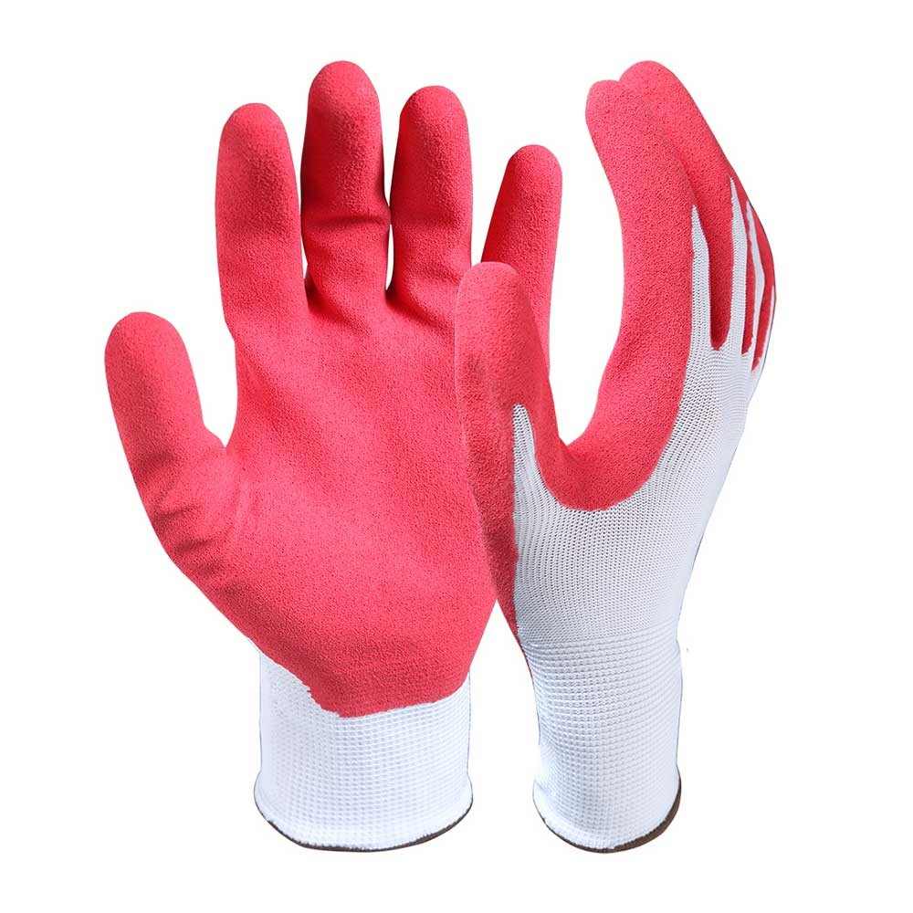 LCG-001 Latex Coated Nylon/Polyester Safety Work Gloves