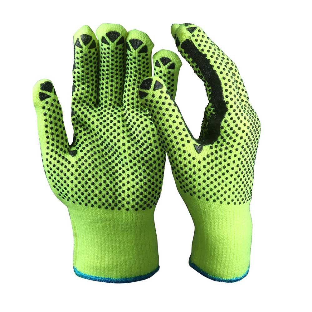SKG-01-G String Knit Safety Work Gloves/Acryic Gloves With Dots