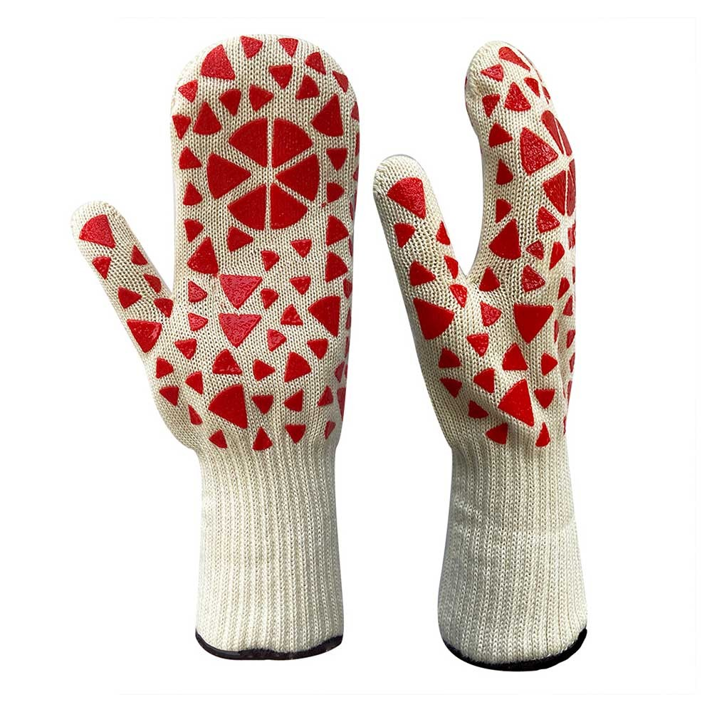 HRG-025 Heat Resistant Mitt with Silicone Pattern