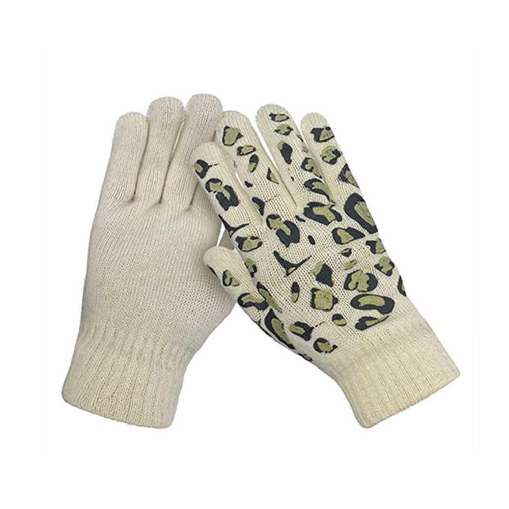 Kids Warm Winter Irregular Printing Pattern Unisex Elastic Comfortable Soft Acrylic Knitting Gloves